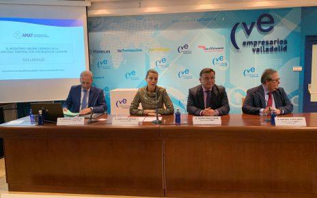 Angela de Miguel hablando sobre el absentismo laboral en Valladolid