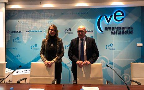 Angela de Miguel y Jesus Carnero presidente de la Diputación de Valladolid