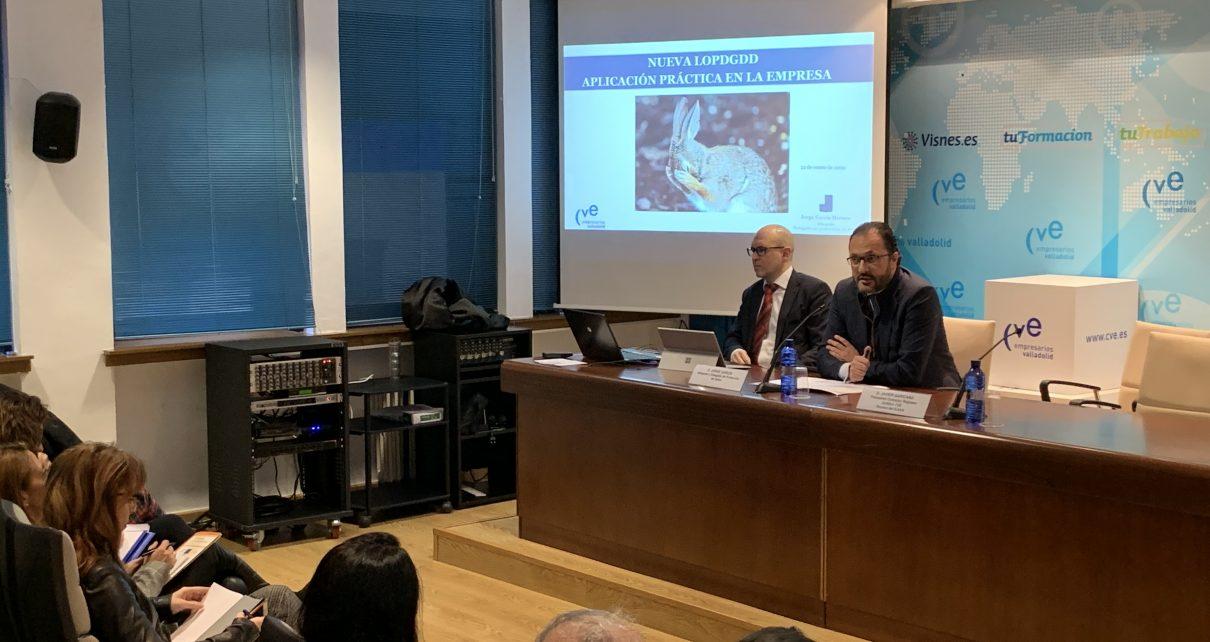 Javier Garicano Presenta la Jornada sobre LOPD de CVE